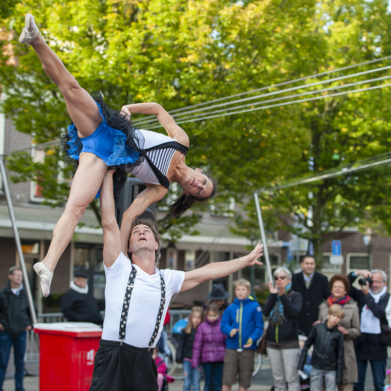 <strong>Coexistence Acrobats: just the two of us</strong><br><p>Leidens Ontzet 2011</p>